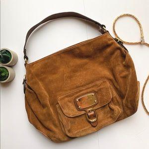 Michael Kors Large Suede Brown Handbag